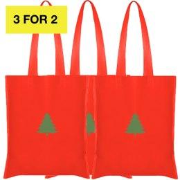 3X Ziemassvētku auduma maisiņi 42x38cm